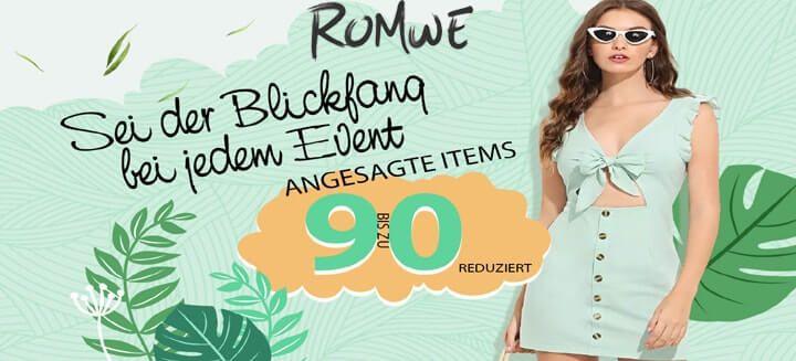 90% Verkauf bei Romwe
