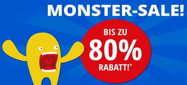 Monster 80% Rabatt
